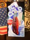 コカコーラ アンディールーニーエンボスサイン 【ICE COLD】