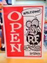 ラットフィンク プラスチックサインボード【オープン&クローズド】