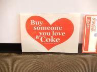Coca-Cola コカコーラ ステッカー 【ハート】