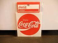 Coca-Cola(コカコーラ)ステッカー 【80年代ロゴ丸】