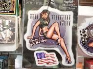 MICHAEL LANDEFELD PIN UP GIRL ステッカー