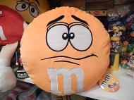 M&M'S ラウンドクッション 【オレンジ】