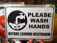 プラスチックサイン 【手を洗ってください】