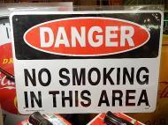 プラスチックサイン 【危険ここは禁煙】