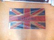 ココヤシマット 【イギリス国旗 welcome】