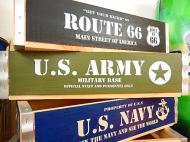 ミリタリーウッドクレート 【U.S.ARMY】