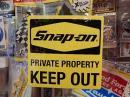 snap-on アメリカンステッカー 【KEEP OUT】 (N)