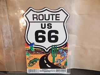 ROUTE66 ステッカー L 【G】