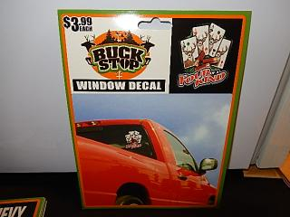 BUCKSTOP WINDOW DECAL 【FOUR OF A KIND】