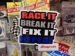 snap-on アメリカンステッカー 【RACE IT BREAK IT FIX IT】 (F)