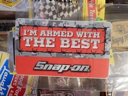 snap-on アメリカンステッカー 【I'M ARMED WITH THE BEST】 (L)