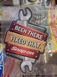 snap-on アメリカンステッカー 【BEEN THERE FIXED THAT】 (G)